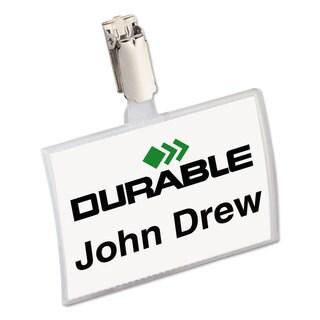 Durable Click-Fold Convex Name Badge Holder