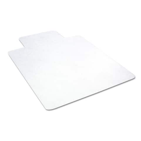 Deflect-O EconoMat No Bevel Chair Mat for Hard