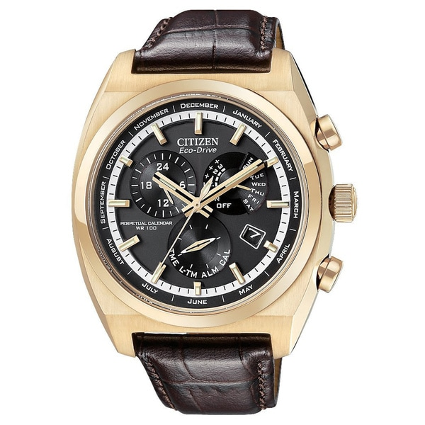Citizen Men's Rose Goldtone Calibre 8700 Eco-Drive Watch