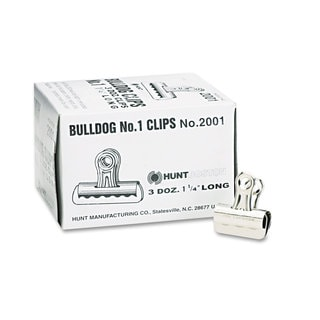 X-ACTO 1.25 x 7/16-inch Small Steel Bulldog Clips (Pack of 2)