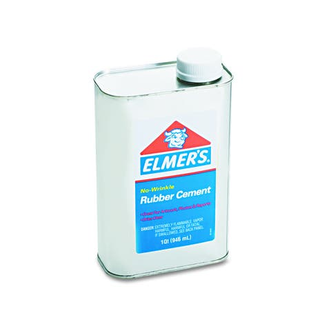 Elmers Rubber Cement 1qt Repositionable Rubber