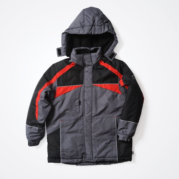 Rothschild Boys' Charcoal Removable Hood Jacket