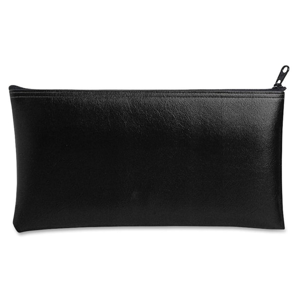 MMF Industries Black Vinyl Zippered Bank Pouch