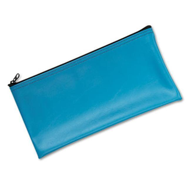 MMF Industries Marine Blue Vinyl Zippered Bank Pouch