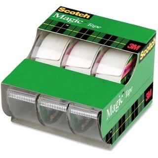 3M Scotch Magic Tape Refillable Dispenser 3-pack