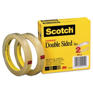3M 665 Double-Sided Tape .5 X 1296 3 core