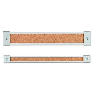 Quartet Map Rail Heavy-Gauge Anodized Aluminum, Natural Cork Insert