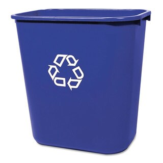 Rubbermaid Medium Blue Deskside Recycling Container