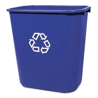 rubbermaid medium blue deskside recycling container