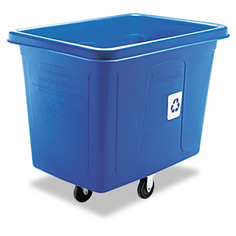 Rubbermaid Blue Recycling Cube Truck (500 pounds)