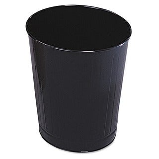 Rubbermaid Black Fire-safe Round Steel Wastebasket