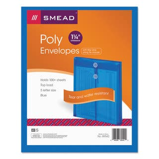 Smead Blue Poly String & Button Envelope (Pack of 3)|https://ak1.ostkcdn.com/images/products/7436399/P14888692.jpg?impolicy=medium