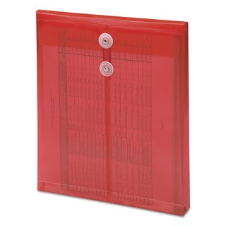 Smead Red Poly String & Button Envelope (Pack of 3)