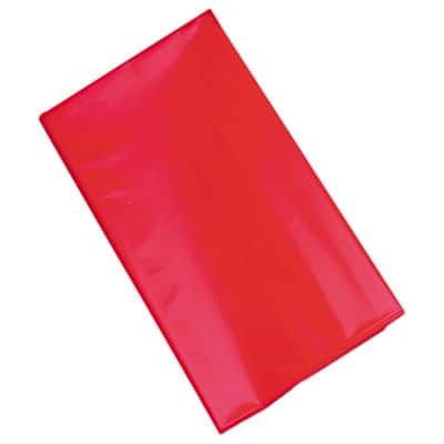 Tablemate Table Set Rectangular Table Cover, 54 x 108, Red, 6/Pack - 54 x 108