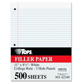 Tops Mediumweight 16-lb. Filler Paper 11x8-1/2