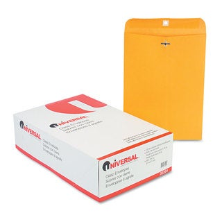 Universal Kraft Clasp Envelope Side Seam 28lb 9 2 Packs of 100