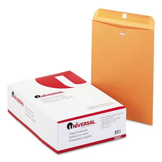 Universal Kraft Clasp Envelope Side Seam 28-pound 10 Pack of 100