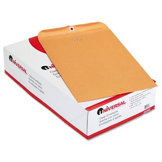 Universal Kraft Clasp Envelope Side Seam 28lb 10 Pack of 100