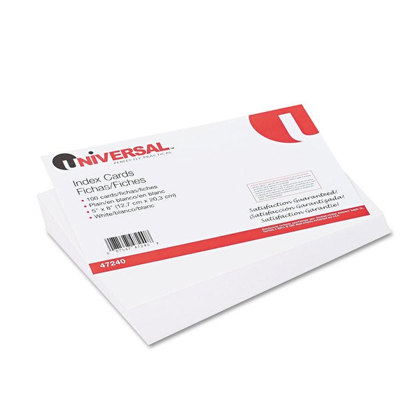 Universal White Unruled Index Cards (Pack of 10)