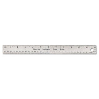 Universal Stainless Steel Ruler with Cork Back and Hanging Hole (Pack of 6)