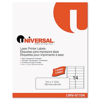 Universal Laser Printer 4 x 1.3 Permanent Labels