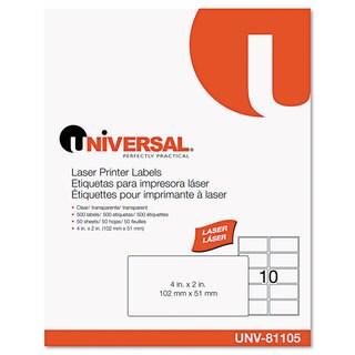 Universal Laser Printer 2 x 4 Permanent Labels