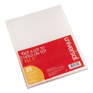 Universal Project Folders Jacket Poly Letter