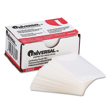 Universal 2 x 4 Clear Laminating Pouches (Pack of 100)
