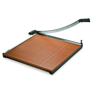 Square Commercial Grade Wood Base Guillotine Trimmer, 20 Sheets