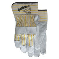 Boss Co Grey Leather Palm Safety Cuff Glove
