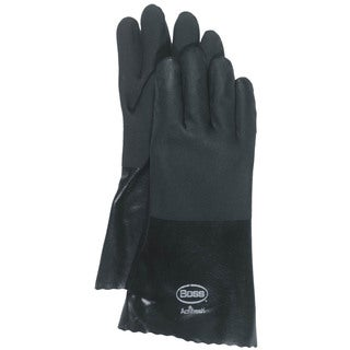 Boss Co Black Jersey Lined PVC Glove Large Pack