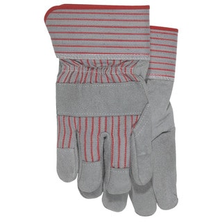 Boss Co Grey Split Leather Palm with Cuff Glove