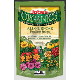 Easy Gardener Weatherly Consum Jobes Organic All-Purpose Fertilizer Spikes