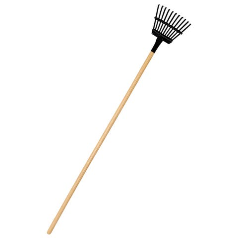 8-inch Superflex Black Shrub Rake