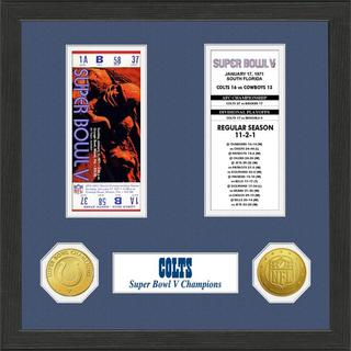 Baltimore Colts NFL SB Ticket/Game Coin Frame