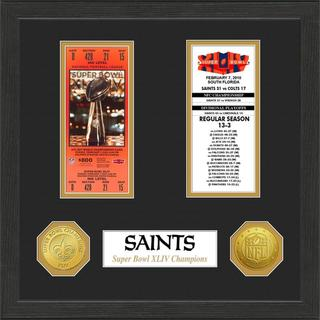 New Orleans Saints NFL SB Ticket/Game Coin Frame