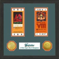 Miami Dolphins NFL SB Ticket/Game Coin Frame