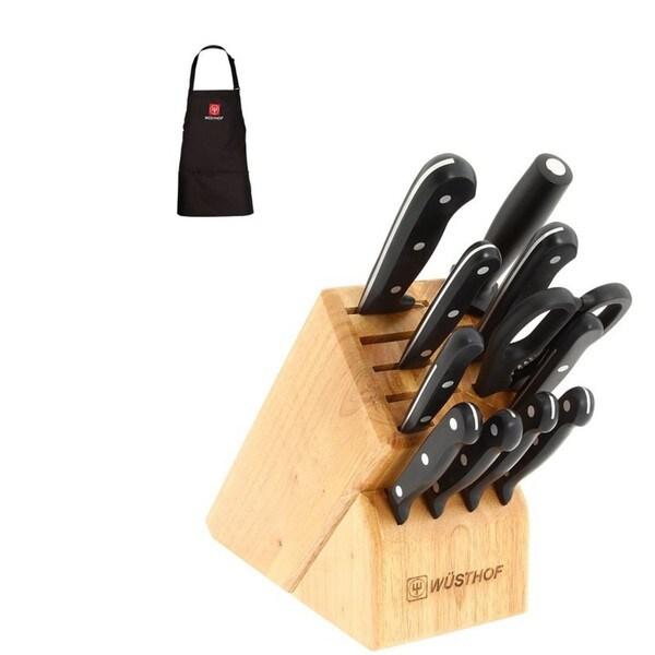 Wusthof 9312-B Gourmet 12-piece Knife Set with Block and Bonus Wusthof Apron