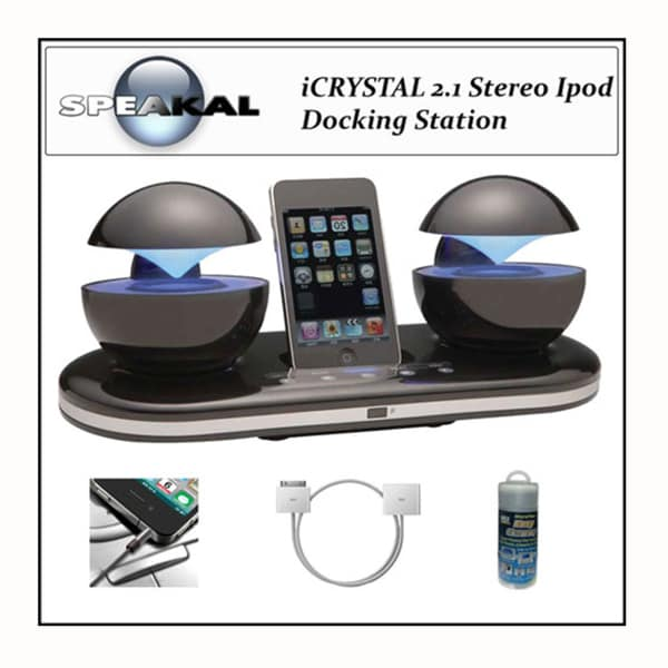 Shop Speakal Icrystal iPod Docking Station System with Accessory Kit ...