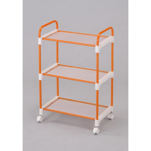 Stainless Steel Orange 3-tier Utility Cart