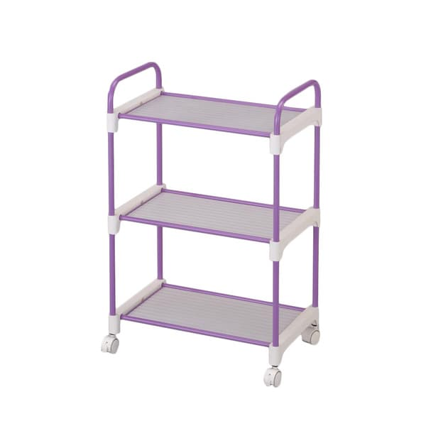 Stainless Steel Lavender 3-tier Utility Cart