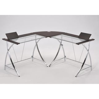 Modern Dark Natural Brown 5.3-foot Computer Desk