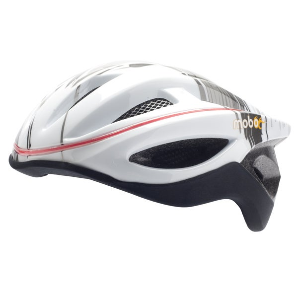 The Mobo 360 Degrees LED Light Gray/White Helmet (S/M)