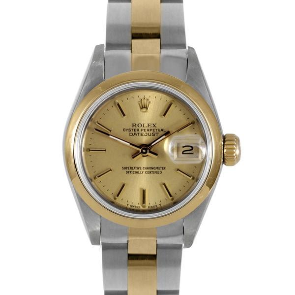 Pre-owned Rolex Women's Two-tone Steel Datejust Watch