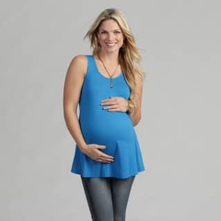 24/7 Comfort Apparel Women's Maternity Sleeveless Tunic Tank|https://ak1.ostkcdn.com/images/products/7440695/P14892513.jpg?impolicy=medium