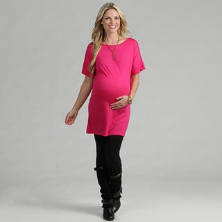 24/7 Comfort Apparel Women's Maternity Oversized T-shirt Dress|https://ak1.ostkcdn.com/images/products/7440698/P14892516.jpg?impolicy=medium