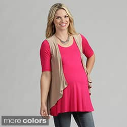 24/7 Comfort Apparel Women's Maternity Sleeveless Shrug|https://ak1.ostkcdn.com/images/products/7440699/24-7-Comfort-Apparel-Womens-Maternity-Sleeveless-Shrug-P14892517.jpg?impolicy=medium
