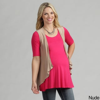 24/7 Comfort Apparel Women's Maternity Sleeveless Shrug
