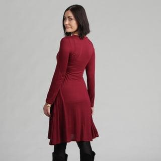 24/7 Comfort Apparel Women's Maternity Long-sleeve Dress