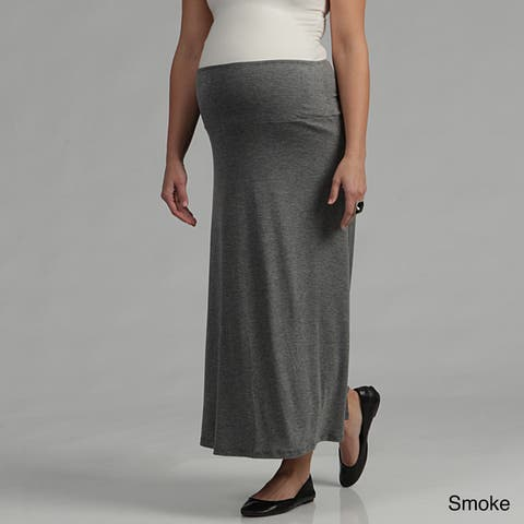 24/7 Comfort Apparel Women's Maternity Maxi Skirt